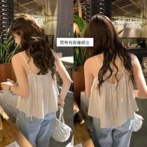 【預購】夏天的味道!法式浪漫綁帶背心~3色