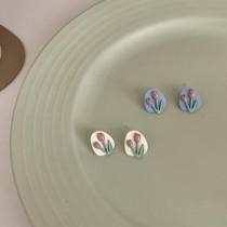 【預購】法式設計款.花朵系列耳環~3款(耳針、耳夾都有)