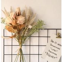 【預購】氛圍感居家布置.烤焦玫瑰穗子 人造花束~3色
