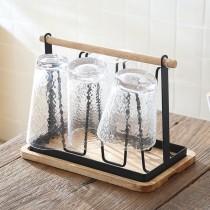 【預購】質感居家.日系 手提式瀝水杯架~4款