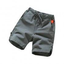 【預購】經典款素色棉麻休閒短褲~5色