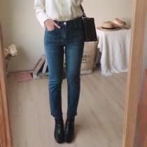 【預購】東大門款.版型很好的 全彈力直筒牛仔褲(S~XL)