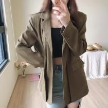 【預購】小眾高級感.訂製設計款 挺版西裝外套~4色
