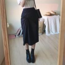 【預購】東大門款.知性女子 質感扭結設計半身裙