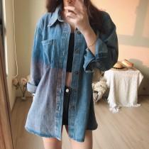 【預購】男女可穿.日系百搭 寬鬆顯瘦牛仔外套