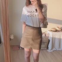 【預購】東大門款.簡約質感 PU皮半身A字短裙~3色