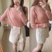 【預購】東大門款.輕設計 超柔軟假兩件式針織衫~7色