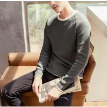 【預購】假兩件式圓領薄毛衣~4色