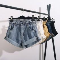 【預購】今年必備款!褲腿反摺的長腿姊姊A字牛仔短褲~5色(XS~3XL)