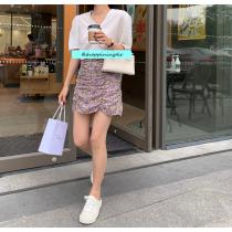 【預購】薰衣草森林.設計款抓皺短包裙(S~XL)
