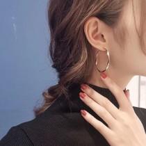 【現貨】超美!金屬螺旋大圈圈耳環