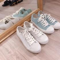 【現貨】35~43號男女可穿!超百搭絨面餅乾鞋(粉綠色40號)