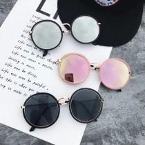 【預購】度假必備大圓片墨鏡太陽眼鏡~4色 (附贈眼鏡盒、拭鏡布)