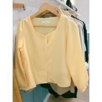 【現貨】韓國帶回.超美黃色系方領襯衫(正韓製)