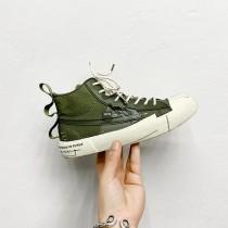 【預購】日系文藝設計感高筒帆布鞋~3色(男女款都有,尺寸35~44)