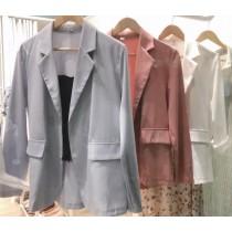 【預購】夏天的顏色!法式高級色系雪紡西裝外套~4色