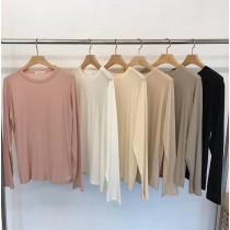 【韓製.預購】知性女子.薄坑條針織上衣~6色