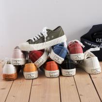 【預購】35~44號 男女可穿!帆布面+餅乾底的萬搭好走鞋~10色