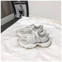 【預購】韓風 溫和色系拼接 輕量好走的老爹鞋~2色(35~40)