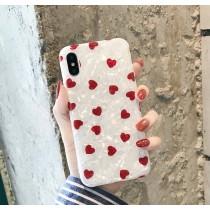 【預購】文藝風.小愛心貝殼色全包式手機殼(Iphone)