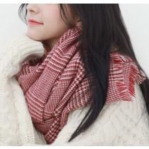 【預購】日系文藝風.不敗款千鳥格超柔親膚圍巾~6款