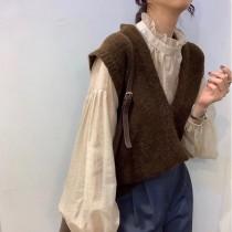【預購】韓國訂單.姐姐風 知性溫柔女子的針織背心~5色