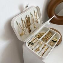 【預購】可攜式小巧皮革飾品收納盒~7色