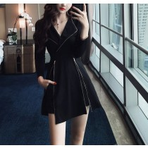 【預購】帥氣又性感!有個性的一件黑色小洋裝(含內搭短褲)
