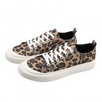 【現貨】我是一隻低調的豹.百搭豹紋帆布鞋(37號)