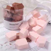 【預購】房子型 拋棄式乾濕兩用 化妝海棉~6色