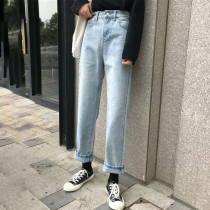 【預購】四季可穿的微寬鬆牛仔長褲
