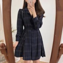 【預購】大推!有n種穿法的復古綁帶格紋襯衫洋裝~2色