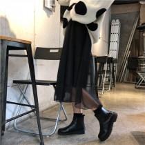 【現貨】不費心穿搭套裝系列.大圓點毛衣 + 網紗中長裙(黑色紗裙賣場)