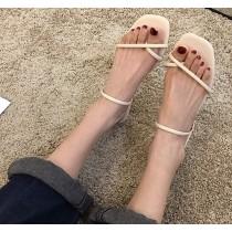 【預購】簡約夾腳款兩穿式平底涼拖鞋~5色