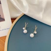 【預購】知性女子專用.韓風設計感925珍珠銀針耳環