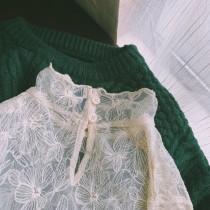 【預購】有點小性感的文藝風.滿版花朵蕾絲貼身內搭衣