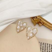 【預購】丞琳同款珍珠愛心925銀針耳環