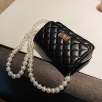 【預購】今年必備款!珍珠鍊條 百搭質感菱格包~4色