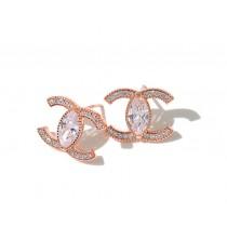 【預購】法式高質感水鑽小香風925銀針耳針式耳環