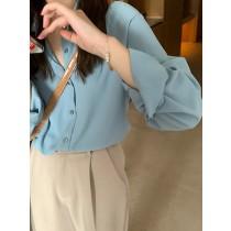 【預購】法式日常.特殊色系的優雅垂墜感襯衫~3色