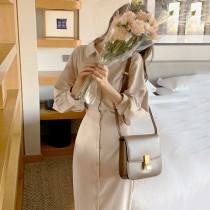 【預購】法式日常.簡約收腰排扣襯衫洋裝~4色