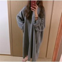 【預購】慵懶但很有型的針織長洋裝~3色