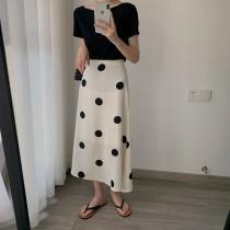 【預購】永不退流行!赫本風大圓點雪紡半身裙~2色