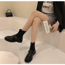 【預購】是襪靴也是小皮鞋!可正式可休閒的襪靴樂福鞋(35~40)