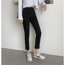 【預購】神褲!全彈力 超級顯瘦款側開衩小直筒牛仔褲(S~XL)