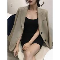 【預購】大氣款卡其色西裝外套