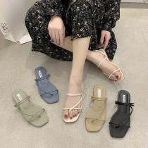 【預購】回饋款!簡約夾腳 兩穿式涼拖鞋~5色