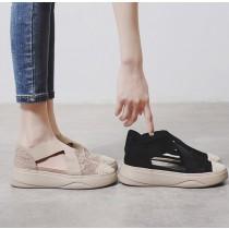 【預購】文藝風厚底漁夫涼鞋鬆糕鞋~2色