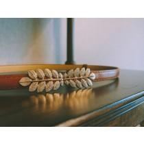 【預購】韓代同款.高雅葉子裝飾 腰封皮帶~2色