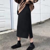 【預購】法式文藝風.質感厚針織 挺版彈力半身裙~4色